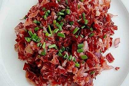 Sauerkraut - Salat mit Rote Bete / Rote Rüben 1