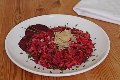 Sauerkraut - Salat mit Rote Bete / Rote Rüben