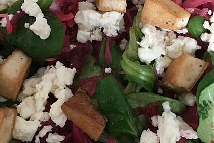 Sauerkraut - Salat mit Rote Bete / Rote Rüben 3