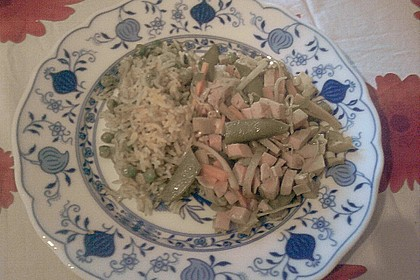 Curry - Reis mit scharfer China - Sauce 1