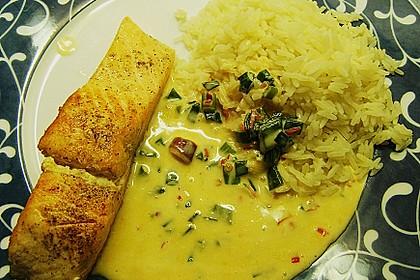 Fischfilets mit Zwiebel - Chili - Sahne - Sauce 3