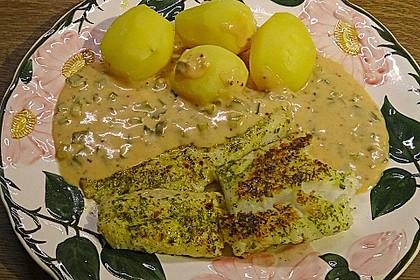 Fischfilets mit Zwiebel - Chili - Sahne - Sauce 0