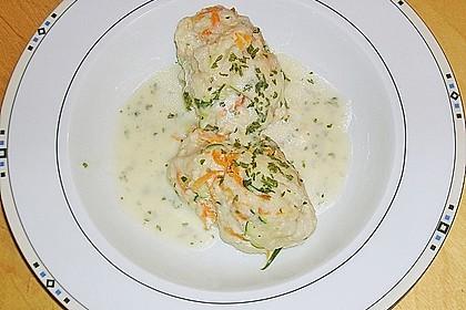 Gemüsenockerl mit Kräutersauce 13