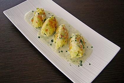Gemüsenockerl mit Kräutersauce 2