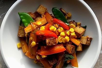 Asiatisches Wok-Gemüse mit Tofu 1