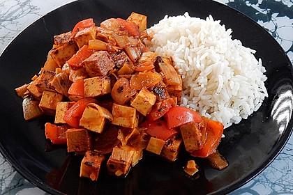 Asiatisches Wok-Gemüse mit Tofu 3