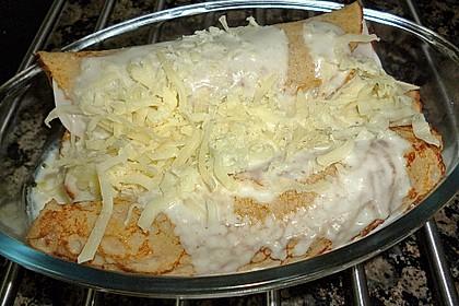 Spargel in Parmesancrêpes 5
