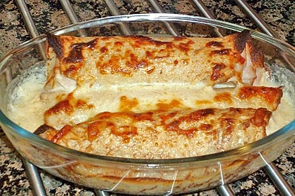 Spargel in Parmesancrêpes 6