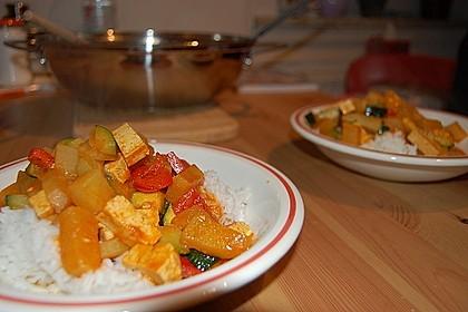 Hähnchencurry mit Süßkartoffeln