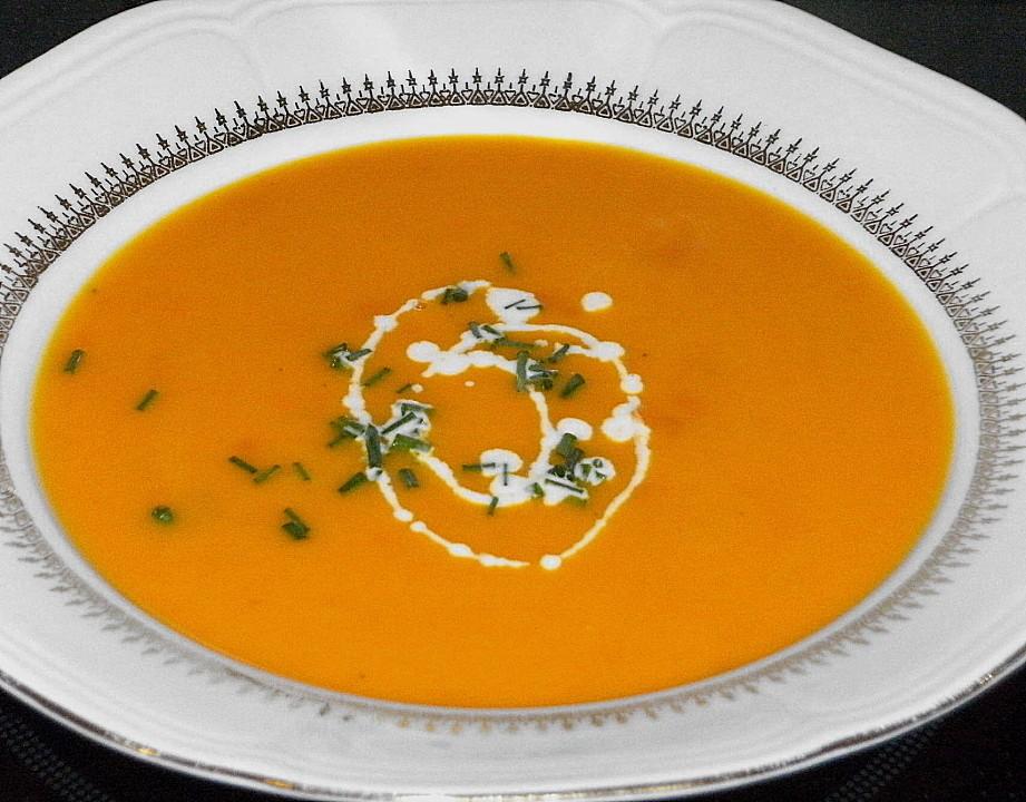 k rbis orangen suppe rezept mit bild von maus x. Black Bedroom Furniture Sets. Home Design Ideas