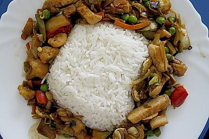 Wok - Gemüse zu Reis 1