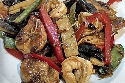 Wok - Gemüse zu Reis
