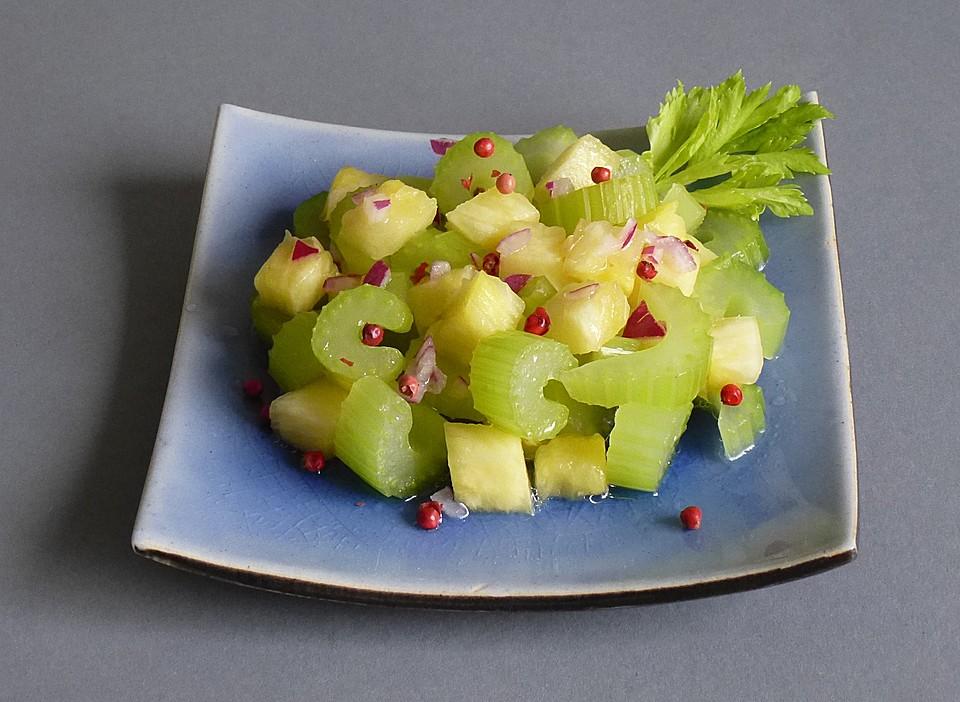 staudensellerie salat ananas rezepte. Black Bedroom Furniture Sets. Home Design Ideas
