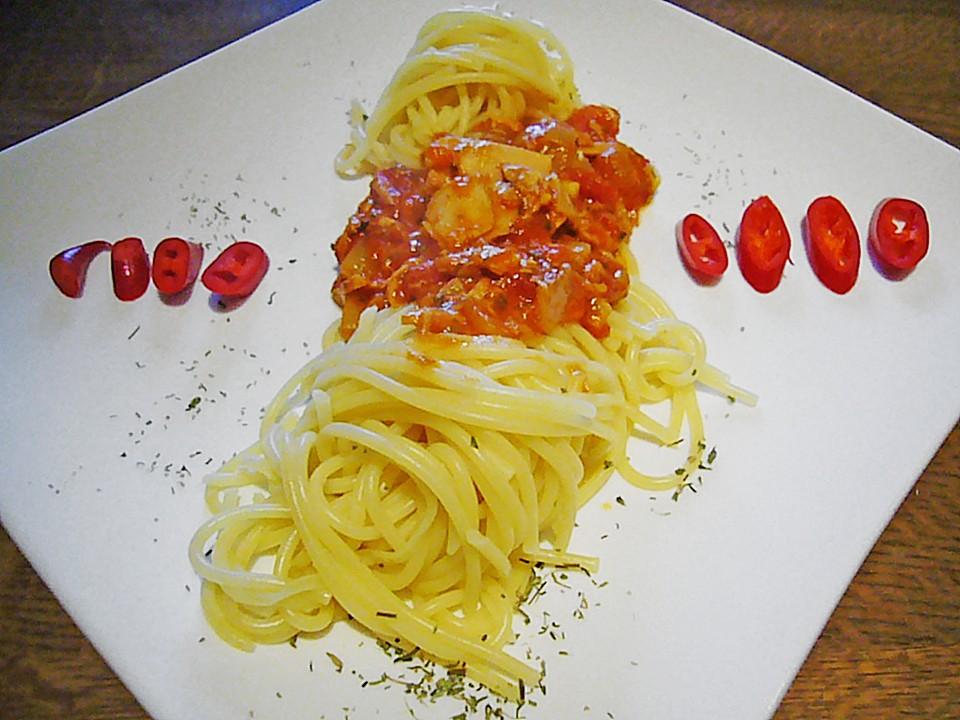 spaghetti mit thunfisch sardellen tomatensauce rezept mit bild. Black Bedroom Furniture Sets. Home Design Ideas