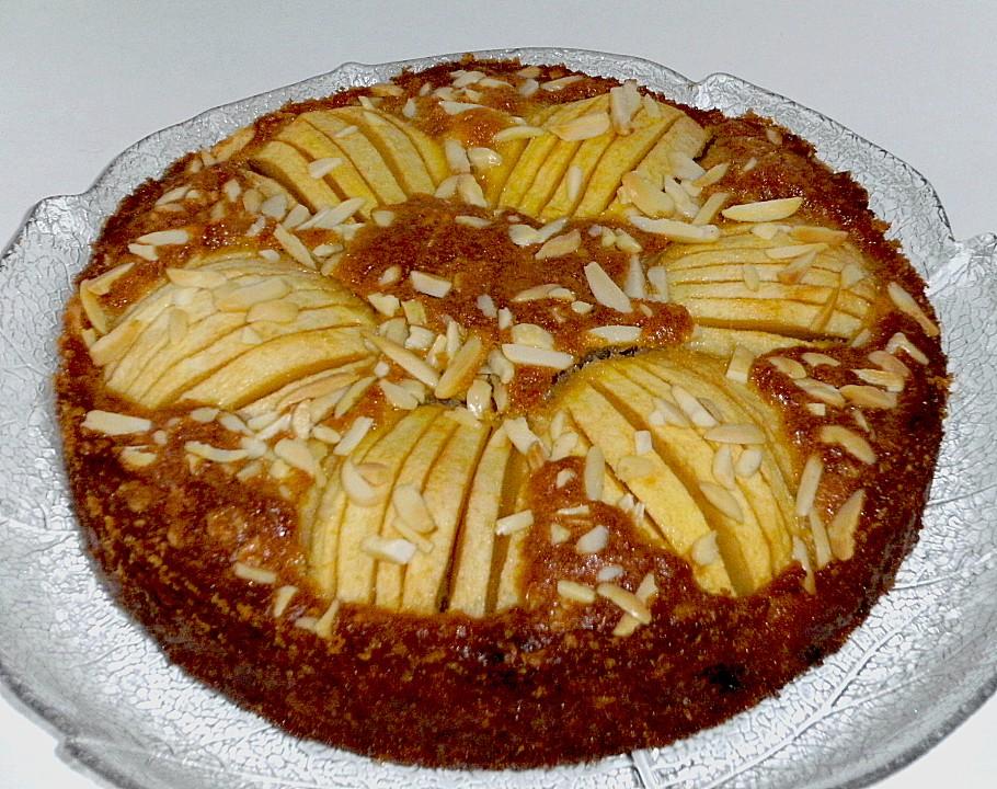 Apfelkuchen mandeln rosinen rezept