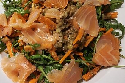 Linsensalat mit geräuchertem Fisch 11