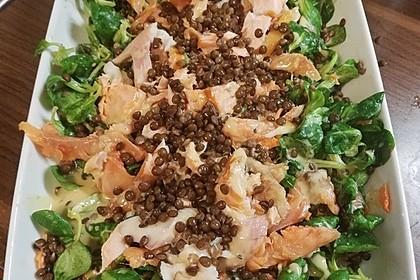 Linsensalat mit geräuchertem Fisch 12