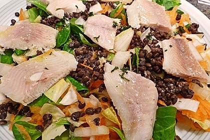 Linsensalat mit geräuchertem Fisch 8