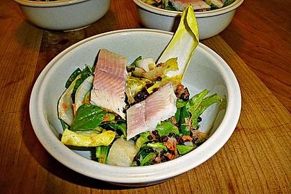 Linsensalat mit geräuchertem Fisch 9