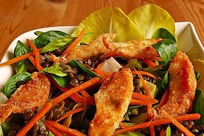 Linsensalat mit geräuchertem Fisch 5