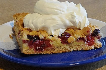 Obstkuchen mit Streuseln 2