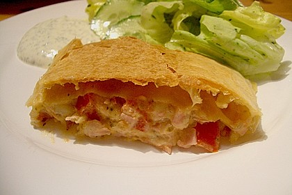 Schinken - Tomaten - Mozzarella - Strudel 19