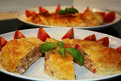 Schinken - Tomaten - Mozzarella - Strudel 2