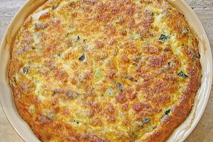 Aubergine - Zucchini - Frittata mit Käse 3