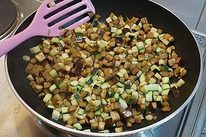 Aubergine - Zucchini - Frittata mit Käse 4