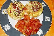 Spaghetti - Muffins mit Tomatensauce