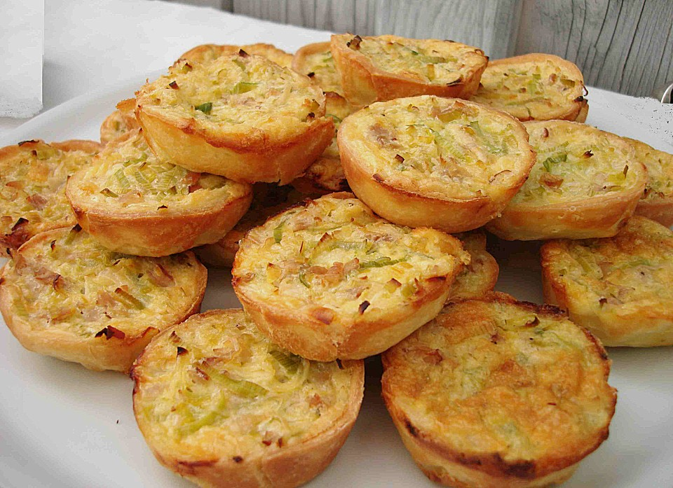 fingerfood mini quiche rezepte. Black Bedroom Furniture Sets. Home Design Ideas