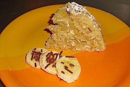 Blitzkuchen mit Haferflocken und Bananen 3