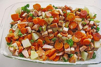 Kartoffel - Kohlrabi - Auflauf mit gekochtem Schinken 4