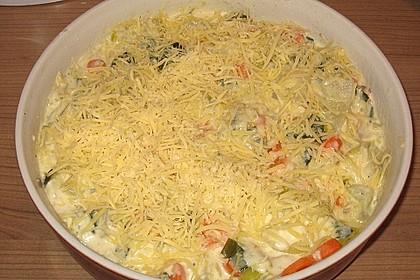 Kartoffel - Kohlrabi - Auflauf mit gekochtem Schinken 10