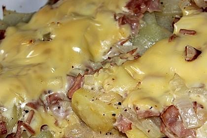 Kartoffel - Kohlrabi - Auflauf mit gekochtem Schinken 1