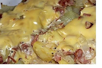 Kartoffel - Kohlrabi - Auflauf mit gekochtem Schinken 3