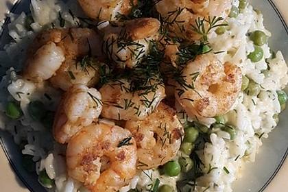 Reissalat mit Shrimps