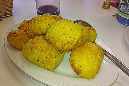 Schwedische Fächerkartoffeln 7