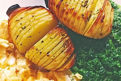Schwedische Fächerkartoffeln