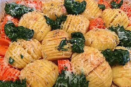 Schwedische Fächerkartoffeln 1