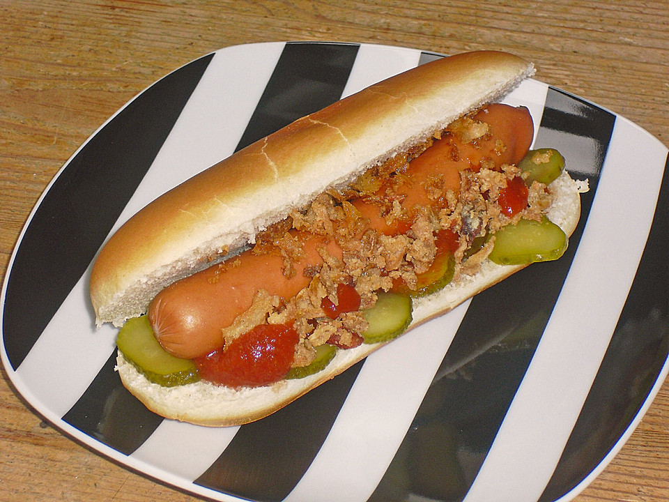 hot dog ein schmackhaftes rezept. Black Bedroom Furniture Sets. Home Design Ideas