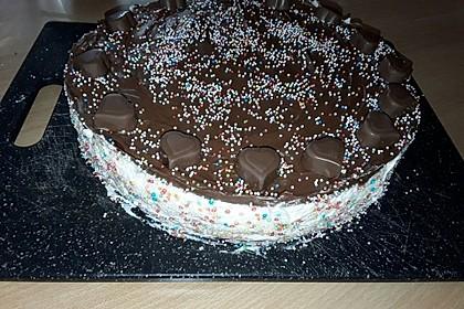 Milka - Herzen - Torte 31