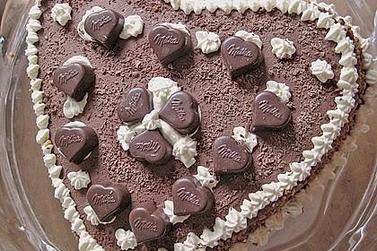 Milka - Herzen - Torte 13