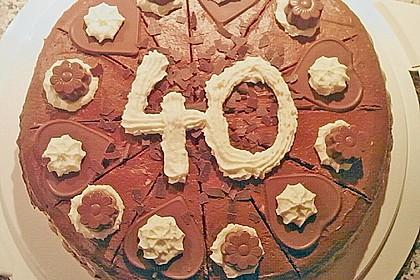 Milka - Herzen - Torte 40