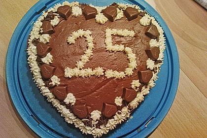 Milka - Herzen - Torte 25