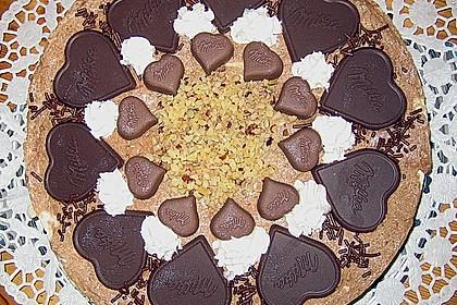Milka - Herzen - Torte 4