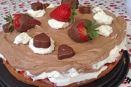 Milka - Herzen - Torte 1