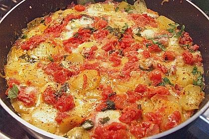 Kartoffeln mit Mozzarella 1