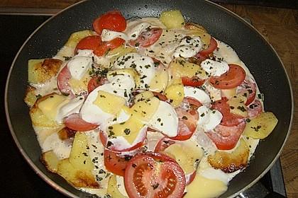 Kartoffeln mit Mozzarella 3