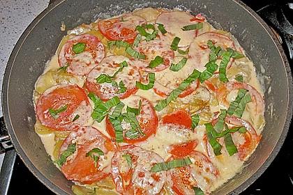 Kartoffeln mit Mozzarella